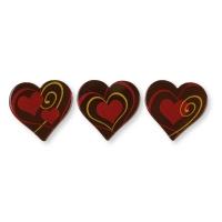 Coeurs en chocolat noir, ass.