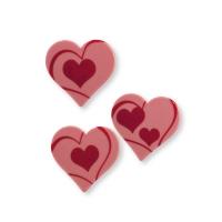 Coeurs en chocolat ruby, ass.