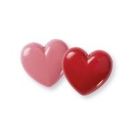 Coeur creux en chocolat ruby 3D