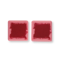 Petit carré en chocolat ruby