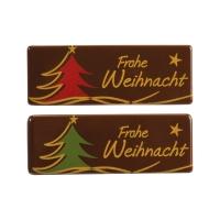 Plaquettes  Frohe Weihnacht  en chocolat noir