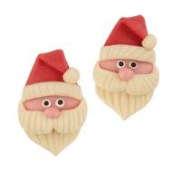 30 pcs Têtes de Père Noël en pâte d'amandes, plat