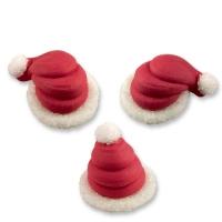 96  pcs Bonnets de Noël, en sucre, 3D