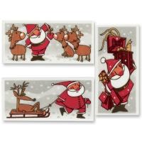 24 Plaquettes Père-Noël en masse de sucre