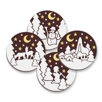 192 pcs Ecussons en chocolat avec motifs de Noël