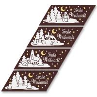 48  pcs Plaquettes en chocolat  Joyeux Noël