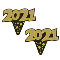 100 pcs Emblèmes An 2021