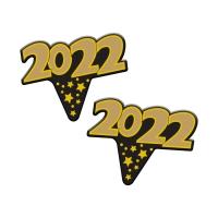 Emblèmes Nouvel An  en Papier Cartonné 1 X100 pcs - 54 x 44 x 0,5 mm