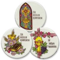 12 pcs Plaquettes rondes  Communion