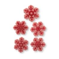 160 Pce.Flocons de neige, chocolat ruby