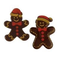 112 pcs Ass. de figurines pin d'épices, chocolat noir