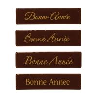 """96 pcs Plaquette en chocolat noir, """"Bonne Année"""""""
