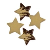 280 pcs Petits étoiles de Noël en chocolat noir, ass.