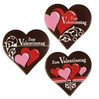 """30 pcs Coeurs en chocolat noir """"Saint Valentin"""""""