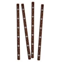 66 pcs Tiges Flocons de neige, chocolat noir