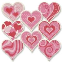 12 pcs Grandes formes de cœur