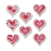 60 pcs Petites formes de cœur