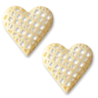 32 pcs Coeurs en chocolat blanc