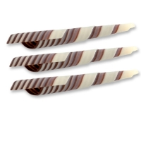 117 pcs Turritella en chocolat noir et blanc