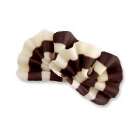475 pcs Eventails en chocolat noir et blanc