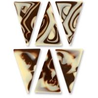 288 pcs Triangle, marmorisé, chocolat noir et blanc