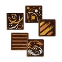 216 pcs Carrés en chocolat noir, ass.