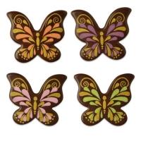 112 pcs Papillons en chocolat noir, ass.