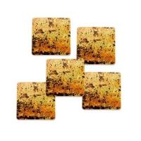 240 pcs Petits carrés en chocolat noir, Antique