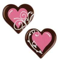 160 pcs Cœurs en chocolat noir, rose