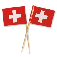 144 pcs Grands drapeaux suisses