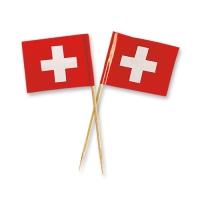 144 pcs Petits drapeaux suisses