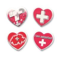 60 pcs Ass. de 60 coeurs  Croix Suisse