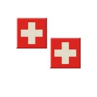 48 pcs Plaquettes  Suisse  en masse de sucre