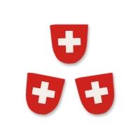 100 pcs Ecusson Suisse  1er Août