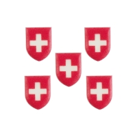Plaquettes  Suisse  en masse de sucre