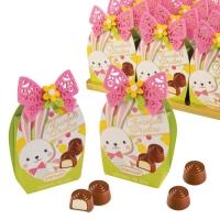 Coffret-Oeuf décoré garni de pralines au chocolat au lait