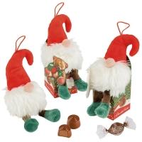 12 pcs Lutin de Noel peluche, boite garnie