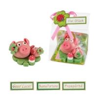 Cochons avec son petit, pâte d'amandes 1 X16 pcs - ~65 x 57 x 40 mm