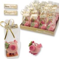 Cochons en pâte d'amandes dans sachet cellophane 1 X32 pcs - ~39 x 38 x 32 mm