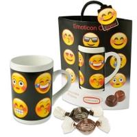 12 pcs Emoticon Cup, garni de pralinés (fourrés noisettes)