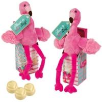 12 pcs Peluche Flamant rose sur boite, garnies de pralinés