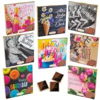 16 pcs Pochettes chocolatées   Anniversaire , assorties