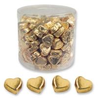 2 Boites de petits cœurs pralinés dorés