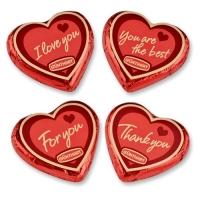 Grands cœurs praliné Love 1 X40 pcs - 70 x 65 x 9 mm