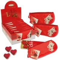 Trousse en peluche Love garnie de chocolat pralin 1 X8 pcs - 210 x 50 x 85 mm