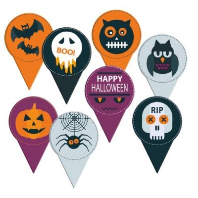 Pique Halloween Carton apte Contact alimentairer imprimés sur chacune des faces 1 X120 pcs