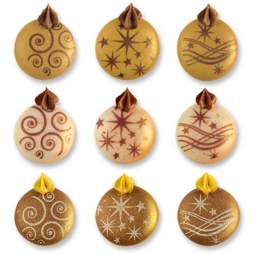 France Décor Shop   144 pcs Boules de Noël en sucre doré